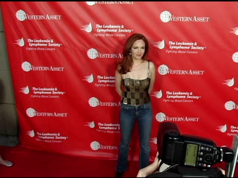 vídeos de stock, filmes e b-roll de amy yasbeck at the inaugural celebrity rock n bowl event presented by the leukemia and lymphoma society at lucky strike lanes in hollywood california... - amy yasbeck