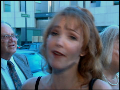 amy yasbeck at the premiere of 'the mask' at academy theater in beverly hills california on july 28 1994 - amy yasbeck stock videos & royalty-free footage