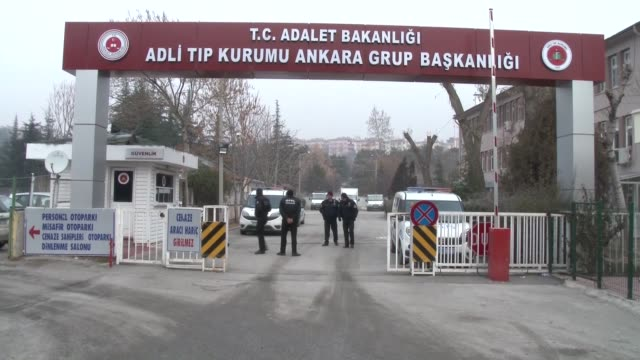 an 18person russian team arrives the forensic medicine institute in ankara turkey on december 20 2016 moscow has sent an 18person team to turkey to... - assassination of andrei karlov stock videos & royalty-free footage