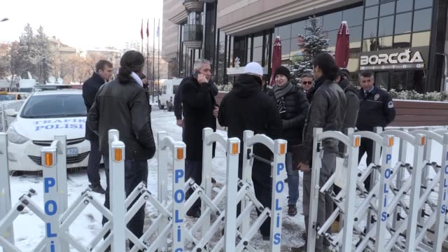 an 18person russian team inspects the contemporary arts gallery where russian ambassador to turkey andrey karlov was shot dead on monday by 22yearold... - assassination of andrei karlov stock videos & royalty-free footage