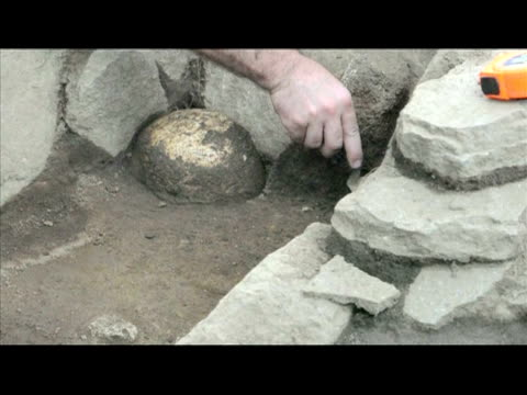 an 800yearold precolumbian burial ground with baskets full of human remains was unearthed at a building site outside costa rica's capital san jose... - pre columbian stock videos and b-roll footage
