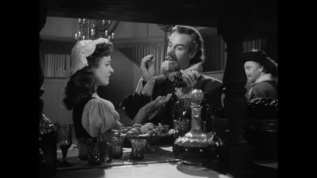 an admirer offers cyrano de bergerac (josé ferrer) a feast - altruism stock videos & royalty-free footage