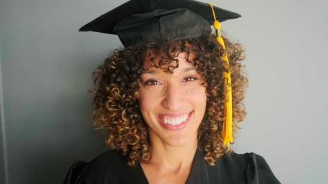 an adult student graduate - cap stock videos & royalty-free footage