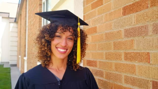an adult student graduate - mortar board stock videos & royalty-free footage