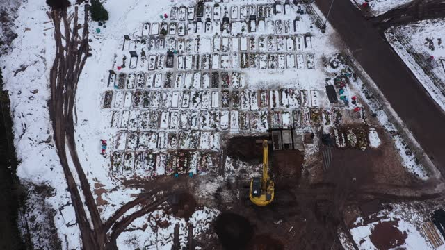 an aerial drone view of recent burial chambers at sutton new hall cemetery which has seen an increase in use after handsworth cemetery, where the... - handsworth stock videos & royalty-free footage