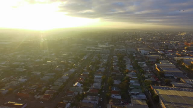 an aerial establishing shot of the melbourne urban sprawl. - david ewing stock videos & royalty-free footage