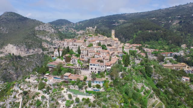 An Aerial of ??ze Village / Nice, France