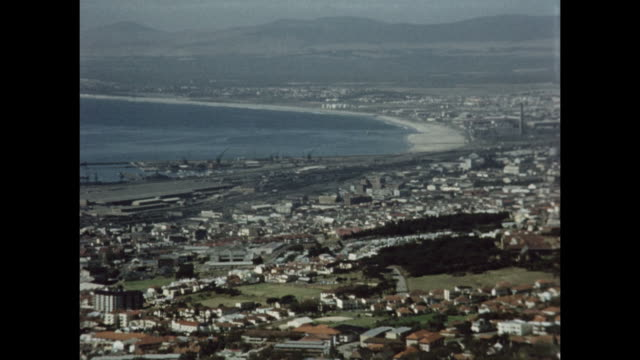 an aerial pan of capetown. - western cape province stock videos & royalty-free footage