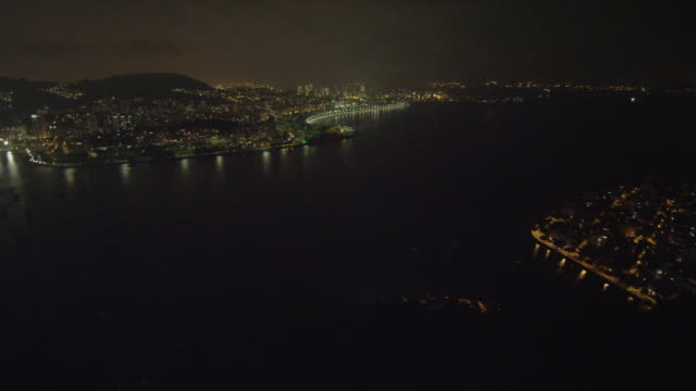 stockvideo's en b-roll-footage met an aerial panoramic view of the skyline of rio with it's mountains in the distance. - 2013