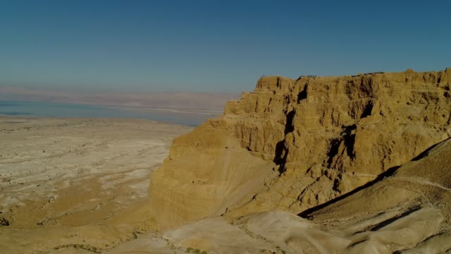 an aerial photograph of masada - ausgedörrt stock-videos und b-roll-filmmaterial