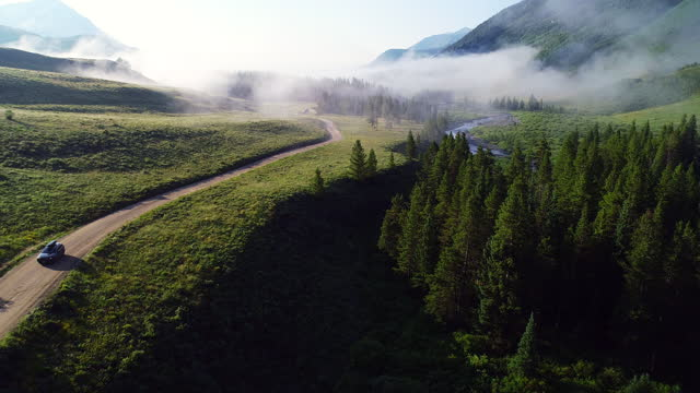an aerial road trip - western usa stock videos & royalty-free footage