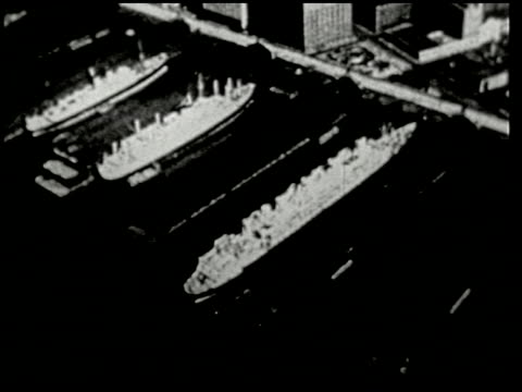 vidéos et rushes de an aerial trip over new york - 5 of 8 - prelinger archive