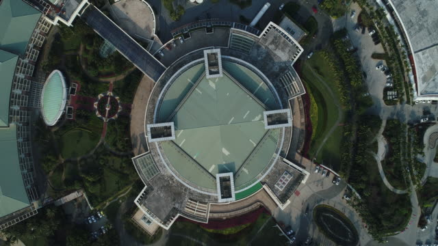 an aerial view of boao asia forum international convention center at boao hainan province china on feb 20 2018 - democracy stock videos & royalty-free footage