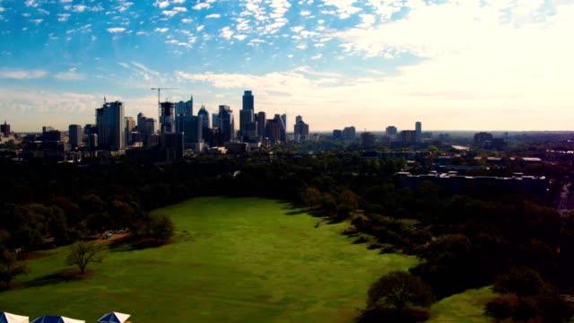 An aerial view of downtown Austin, Texas.