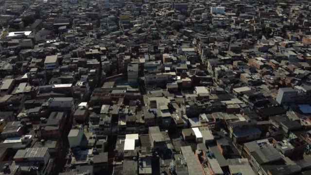 an aerial view of heliopolis amidst the coronavirus on july 2, 2020 in sao paulo, brazil. instituto baccarelli is a non-profit organization that... - latin america stock videos & royalty-free footage
