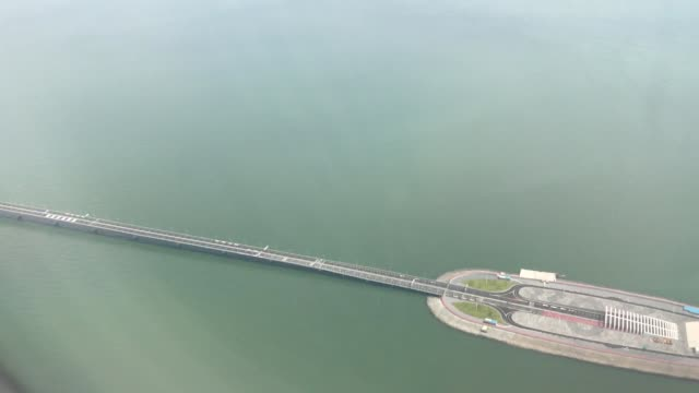 An aerial view of Hong KongZhuhaiMacao Bridge on July 11 2018 In Hong Kong China The Hong Kong–Zhuhai–Macau Bridge is a bridge–tunnel system which...