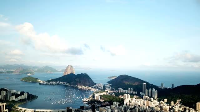 An aerial view of Rio's iconic Sugarloaf Mountain Rio de Janeiro Brazil