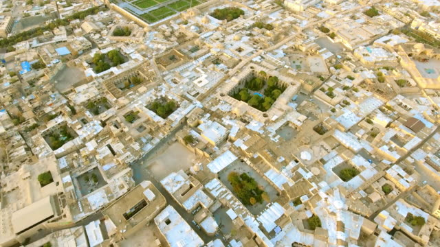 An aerial view of the ancient city of Esfahan, Iran.