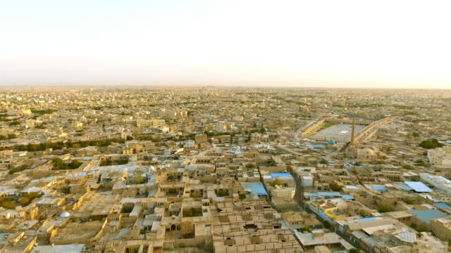 an aerial view of the ancient city of esfahan, iran. - david ewing stock-videos und b-roll-filmmaterial