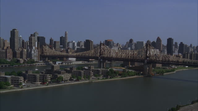 an aerial view of the cityscape of new york city. - 2009 stock videos and b-roll footage