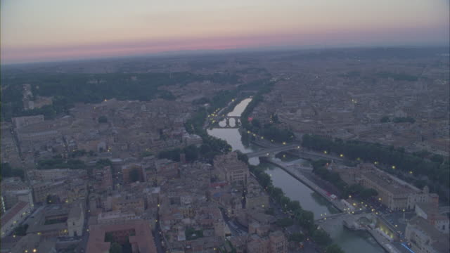 an aerial view of the cityscape of vatican city at daytime. - ponte video stock e b–roll