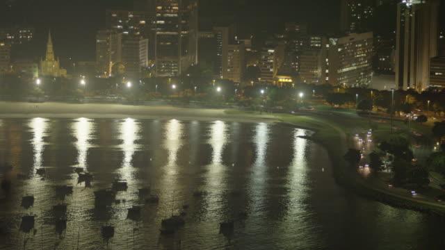 vídeos de stock, filmes e b-roll de an aerial view of the empty maracanì£ stadium in rio de janeiro. - 2013