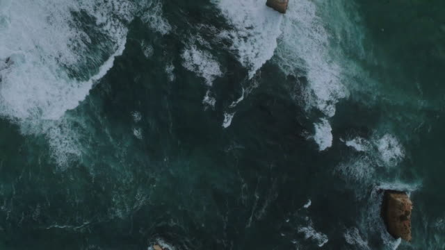 an aerial view of the great ocean road and bay of islands. victoria. australia. - national landmark stock videos & royalty-free footage