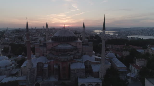 an aerial view of the hagia sophia mosque. istanbul. turkey. - ankara stock videos and b-roll footage