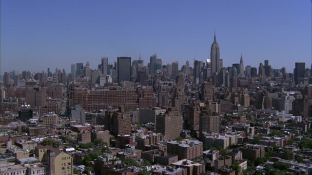 an aerial view of the manhattan cityscape. - 2009 stock videos and b-roll footage