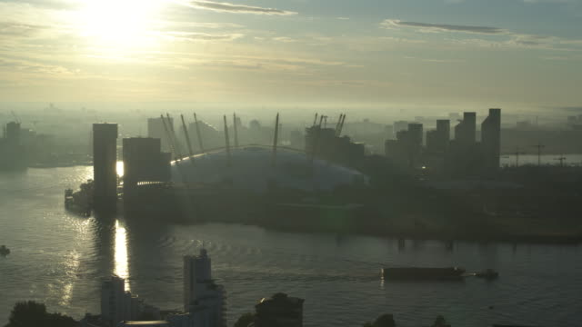 an aerial view of the o2 wembley arena, previously known as millennium dome in london, united kingdom. - drone point of view stock videos & royalty-free footage