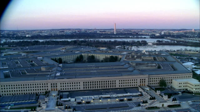 an aerial view of the pentagon in arlington county. - the pentagon stock videos & royalty-free footage