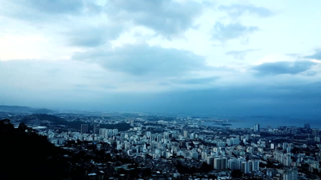 An aerial view of the Rio skyline Rio de Janeiro Brazil