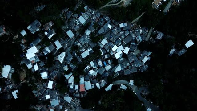 An aerial view of the Turano favela Rio de Janeiro Brazil