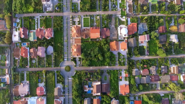 vídeos de stock e filmes b-roll de an aerial view of the wealthy suburb of mazandaran, north iran. - david ewing