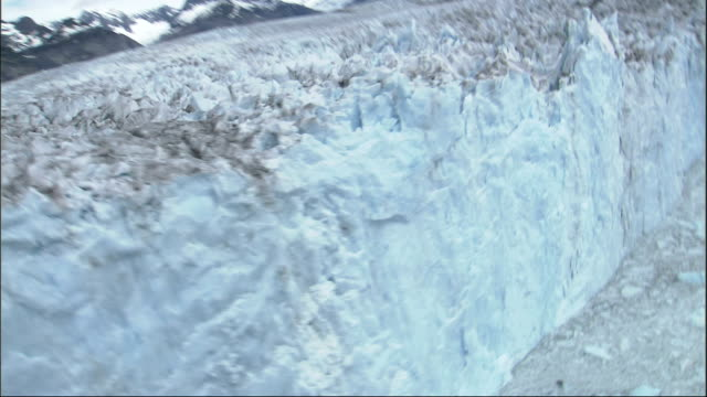 an aerial view reveals alaska's columbia glacier. available in hd. - columbia glacier stock videos & royalty-free footage