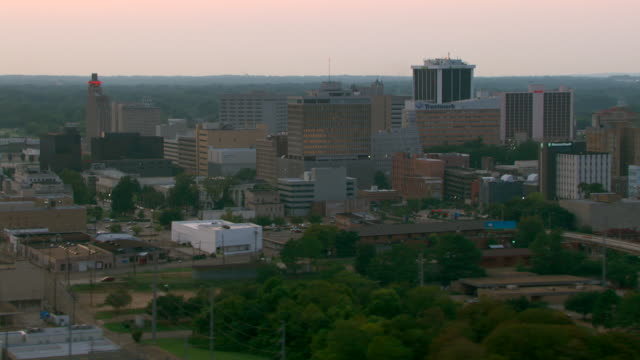 an aerial view shows the buildings of downtown jackson, mississippi. - jackson stock videos & royalty-free footage