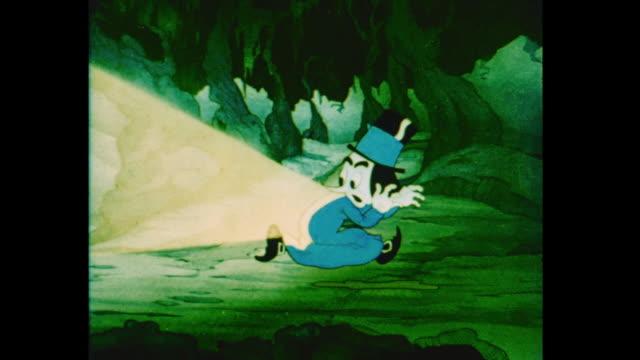 an aggressive grumpy man is deterred when an elf throws sunshine at him - villain stock videos & royalty-free footage