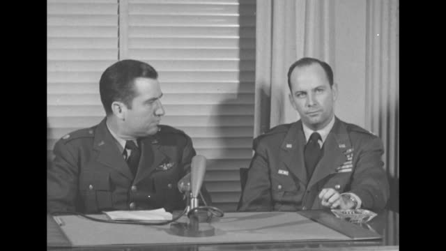 """an air force captain, former pow during korean war, talks about his captivity at the infamous """"pak's palace"""" pow camp as he sits next to a usaf... - russian ethnicity stock videos & royalty-free footage"""