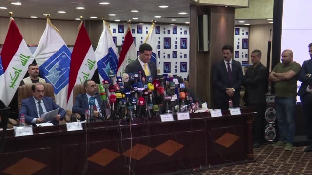 an alliance spearheaded by nationalist cleric moqtada sadr leads iraq's parliamentary elections with internationally favoured prime minister haider... - muqtada al sadr stock videos & royalty-free footage