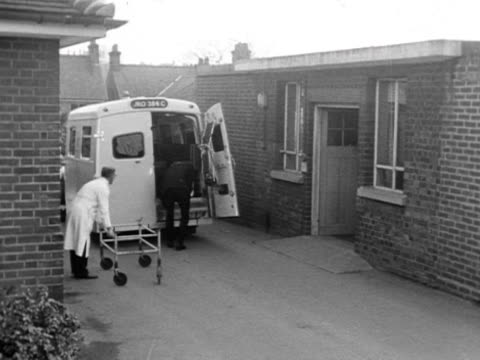 An ambulance delivers a patient to a hospital