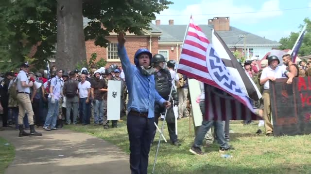 an american neo nazi is set to go on trial for murder monday a year after allegedly ramming his car into counter protesters at a white supremacist... - nazi rally stock videos and b-roll footage