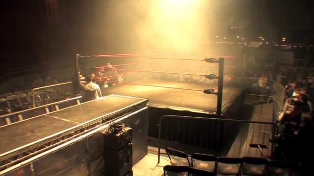 An American style professional wrestling ring