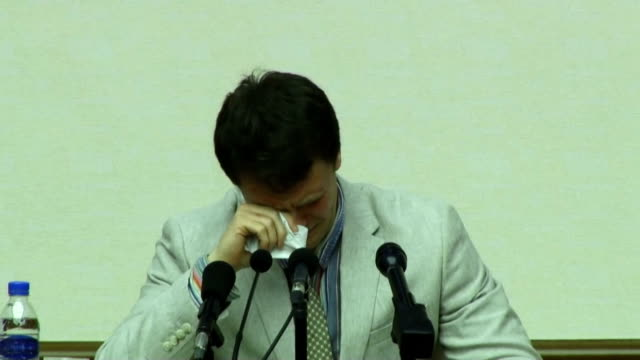 an american university student who has been detained in north korea since early january apologized monday for having committed what pyongyang calls... - virginia us state stock videos and b-roll footage