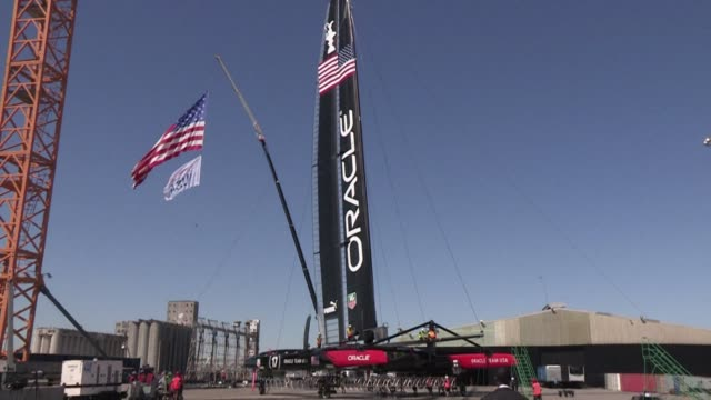 an americas cup yachting event kicked off its first race last weekend amid controversy over late rule changes and is set to last until late september... - oracle corporation stock-videos und b-roll-filmmaterial