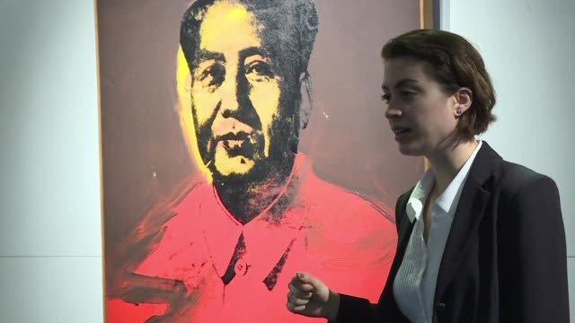 an andy warhol portrait of former chinese leader mao zedong will be auctioned in hong kong in a landmark sale that could fetch $15 million but... - mao stock videos and b-roll footage