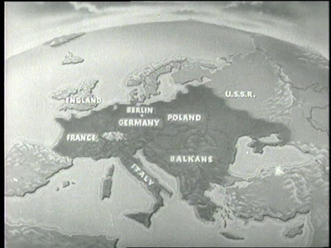 an animated globe reveals the german invasion of europe. - former soviet union stock videos & royalty-free footage