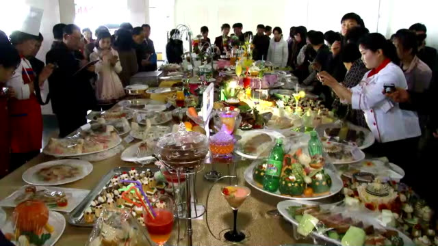 An annual cuisine contest begins in Pyongyang on April 6 ahead of the birthday of North Korea's founder Kim Il Sung on April 15 the biggest fete day...