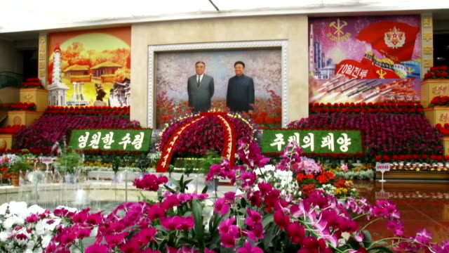 An annual exhibition of Kimilsungia a type of orchid named after North Korea founder Kim Il Sung began in Pyongyang on April 13 2016 A model of the...