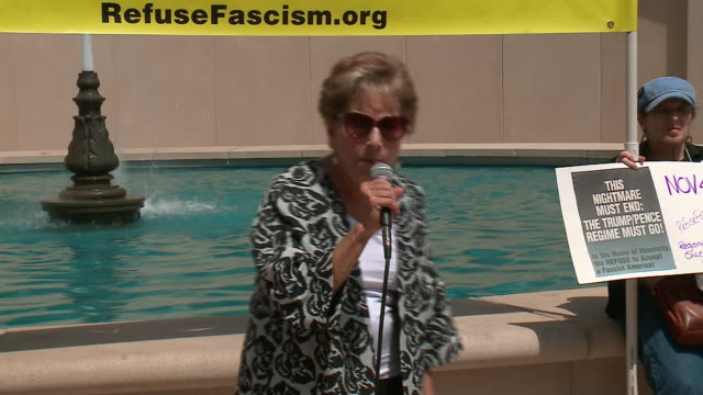 wgn an antiwhite supremacist rally and march were held sunday in chicago as a response to the violence in charlottesville virginia during a unite the... - statue stock videos & royalty-free footage