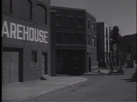 an apparently deserted town is actually a large set on the back lot of mgm studios in culver city, california. - film set stock videos & royalty-free footage